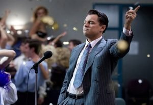 Leo Dicapri speaking in the Wolf of Wall Street, a movie about money